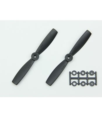 HQ 5x4.5 Bull-Nose Prop, Black, Normal Rotation (2-Pack)