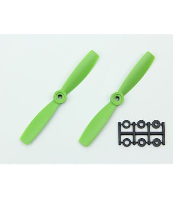 HQ 5x4.5 Bull-Nose Prop, Green, Normal Rotation (2-Pack)