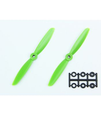 HQ 5x4.5 Prop, Green, Normal Rotation (2-Pack)