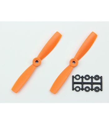 HQ 5x4.5 Bull-Nose Prop, Orange, Normal Rotation (2-Pack)