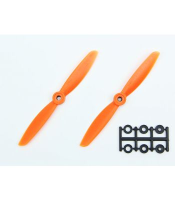 HQ 5x4.5 Prop, Orange, Normal Rotation (2-Pack)