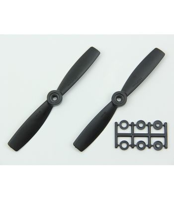 HQ 5x4.5 Bull-Nose Prop, Black, Reverse Rotation (2-Pack)