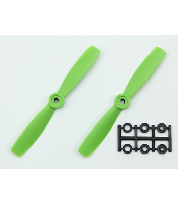 HQ 5x4.5 Bull-Nose Prop, Green, Reverse Rotation (2-Pack)