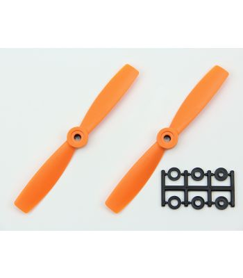 HQ 5x4.5 Bull-Nose Prop, Orange, Reverse Rotation (2-Pack)