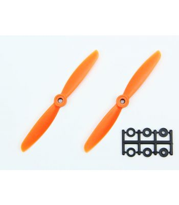 HQ 5x4.5 Prop, Orange, Reverse Rotation (2-Pack)