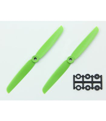 HQ 6x3 Prop, Green, Reverse Rotation (2-Pack)