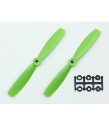 HQ 6x4.5 Bull-Nose Prop, Green, Reverse Rotation (2-Pack)