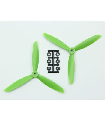 HQ 6x4.5 Prop, Green, 3-Blade, Normal Rotation (2-Pack)