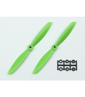 HQ 7x4.5 Prop, Green, Normal Rotation (2-Pack)