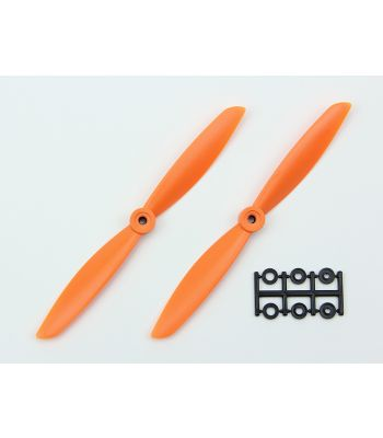 HQ 7x4.5 Prop, Orange, Normal Rotation (2-Pack)