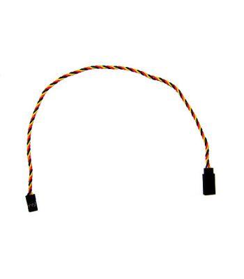 Servo Extension, JR/Hitec Connectors, 26ga 12 inch, Twisted