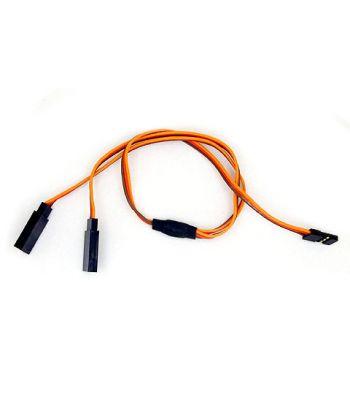 Servo Y-Harness, JR/Hitec Connectors, 28ga 12 inch