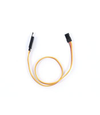 Safety Clip Servo Extension with JR/Hitec Connectors, 22ga 12 inch