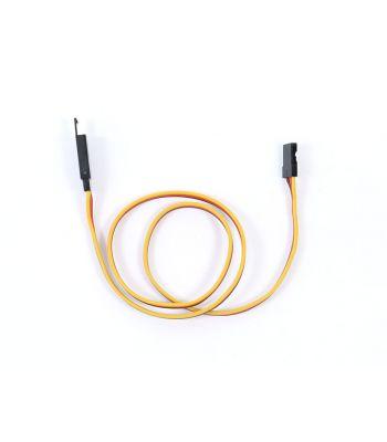 Safety Clip Servo Extension with JR/Hitec Connectors, 22ga 24 inch