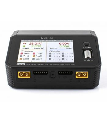 ToolkitRC M6DAC AC 200w, DC 700W, Dual Channel Smart Battery Charger