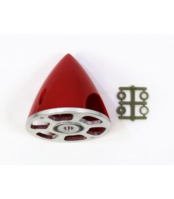 Plastic Spinner with Aluminum Backplate, 70mm (2-3/4