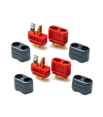 T-Plug Connector Set, 2 Male & 2 Female