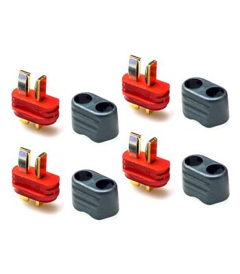 T-Plug Connector Set, 4 Male