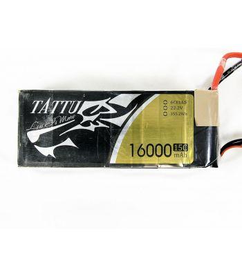 Tattu 6-cell 16,000mah 15C Lipo Battery Pack, Used
