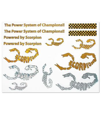 Scorpion Water Slide Decal 001 (A4 Size)